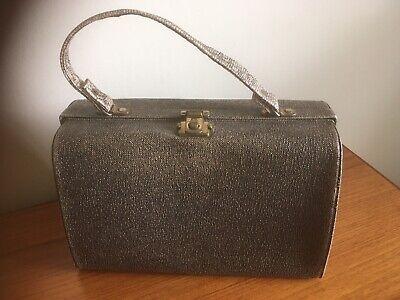 1950's Large Retro Vintage Faux Snakeskin Handbag - Film Prop