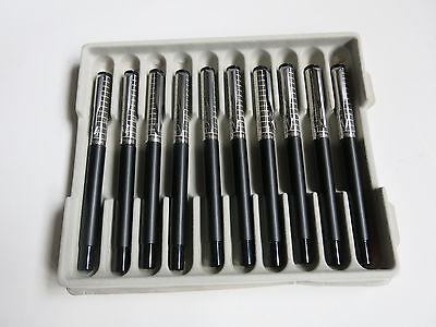 Parker Vector SS Chiselled Black Fountain pen Medium nib (Tray of 10)