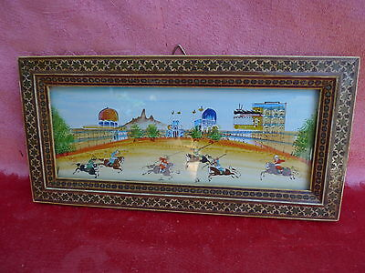 Pretty Picture__Orient__Miniature Painting__reiterspiele__BEAUTIFUL FRAME __