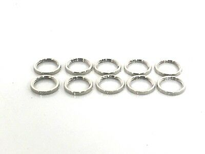 Toggle Switch Nickel Nut Ring 16-3p Boat Marine Set Of Ten 380-08693
