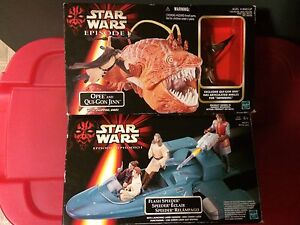 Star Wars Flash Speeder and Qui-Gon Jinn and Opee
