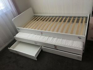Single bed with fold away