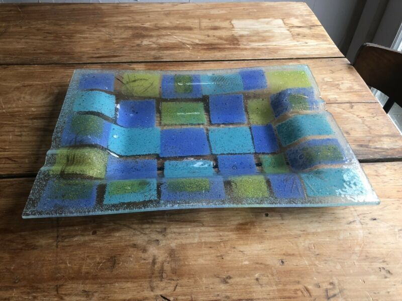 Super Large Glass Tray by Higgins