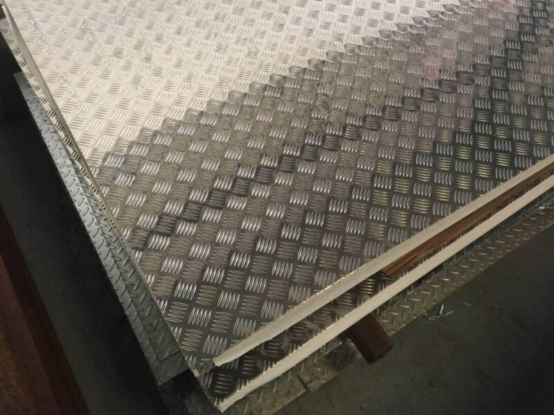 Aluminium Checker Plate Sheet 5 Bar 1 6mm 2mm 3mm Building
