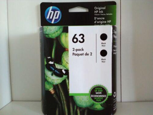 HP 63 2-pack Black Original Ink Cartridges Exp 2021+