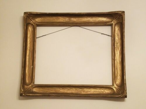 """c1900 Antique Arts & Crafts Carved Gilded Newcomb-Macklin Period Frame 29"""" x 34"""""""