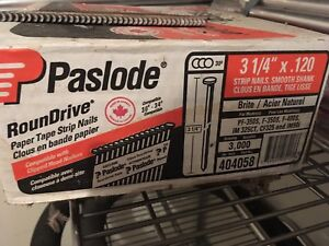 "Paslode nails 3.25""  x .120"