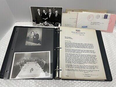 VINTAGE 1960 MOBIL OIL COMPANY SOCONY RUBENA MOORE RETIREMENT LETTERS LETTERHEAD