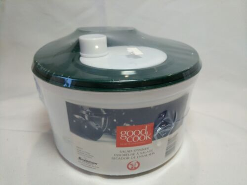 Good Cook Salad Spinner By Bradshaw White Hand Spinner, Open