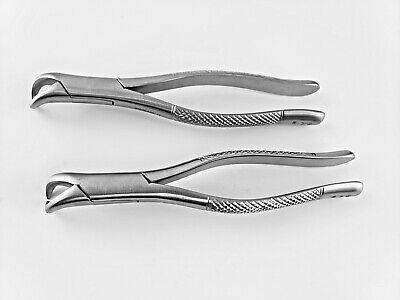 2 Dental Extracting Forceps 23s Cowhorn Pediatric Oral Surgery Stainless Steel