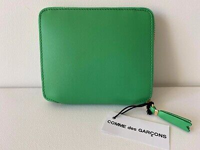 Comme Des Garçons Leather Wallet Model SA2100 in Green BNIB $199 -40% OFF