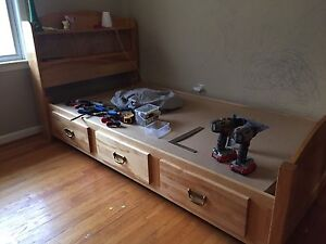 Well built solid wood captains bed. 200obo