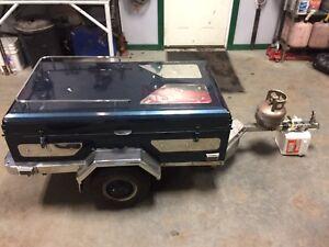 motorcycle pop up tent trailer