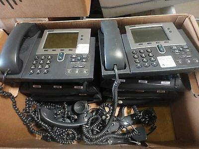 Lot Of 2 Cisco Cp-7940g Ip Phones 7940 Unifies Voip W Handset Stand