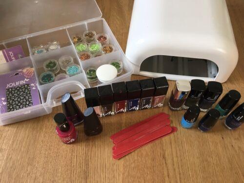 UV- Lichthärtungsgerät für Nägel + Steine/Lack/Glitterpuder/Sticker