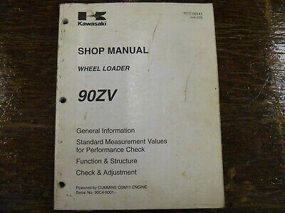 Kawasaki 90zv Wheel Loader Adjustment Shop Service Repair Manual