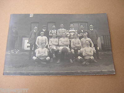 FOOTBALL TEAM POSTCARD c1920. EXETER. SOCCER. ORIGINAL REAL PHOTOGRAPHIC CARD 1