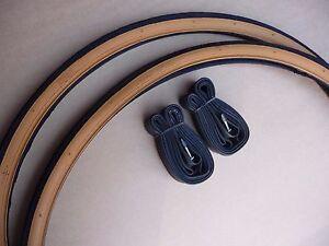 Pair-Tyres-amp-Innertubes-27x-1-1-4-Vintage-Traditional-Racing-Sports-Bike-Tan