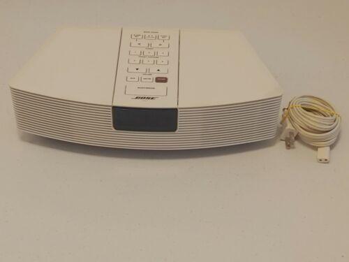 Bose Wave AWR1-1W White AM FM Stereo Alarm Clock Radio - Tested Working