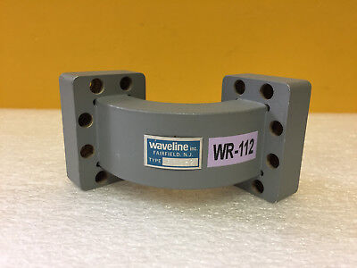 Waveline 532-2 Wr-112 7.05 To 10 Ghz 90 Waveguide E Bend. Tested
