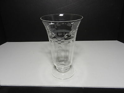 d Goblet Band w Flower Leaf Clear & Gray Cuts 5 5/8