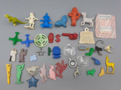 Vintage Lot of Cracker Jack Gumball Prizes Charms Toys Figures Animals