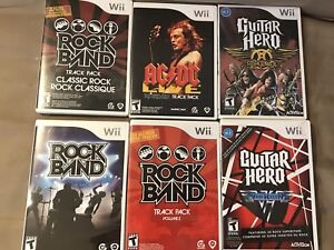 Wii Rock Band / Guitar Hero Games