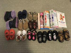 $50 — girl 6-12 mos shoes, clothes and books