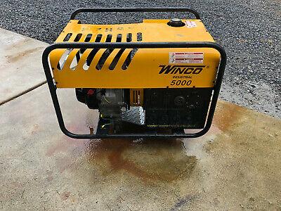 Winco Industrial Generator 5000 114hrs Watts 4500120240v 9hp 3600rpm