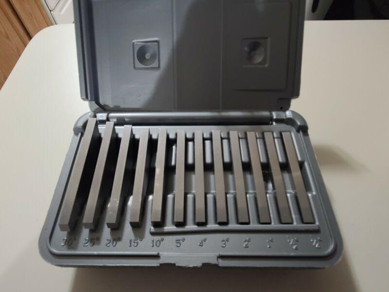 Brown & Sharpe 12 Piece Ultra - Precision Angle Block Set In Case  - Machinist