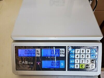 Cas Erjr Price Computing Scale 30 Lb By 0.005 Lb Nteplegal For Trade Lcd