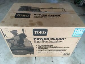 Toro Power Clear Single-Stage Snowblower NEW! $699.00