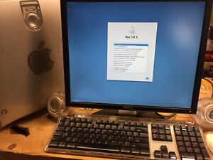 Apple Power Mac, Dell LCD, keyboard, mouse, dpeakers