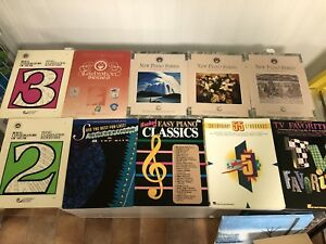 Assorted piano books