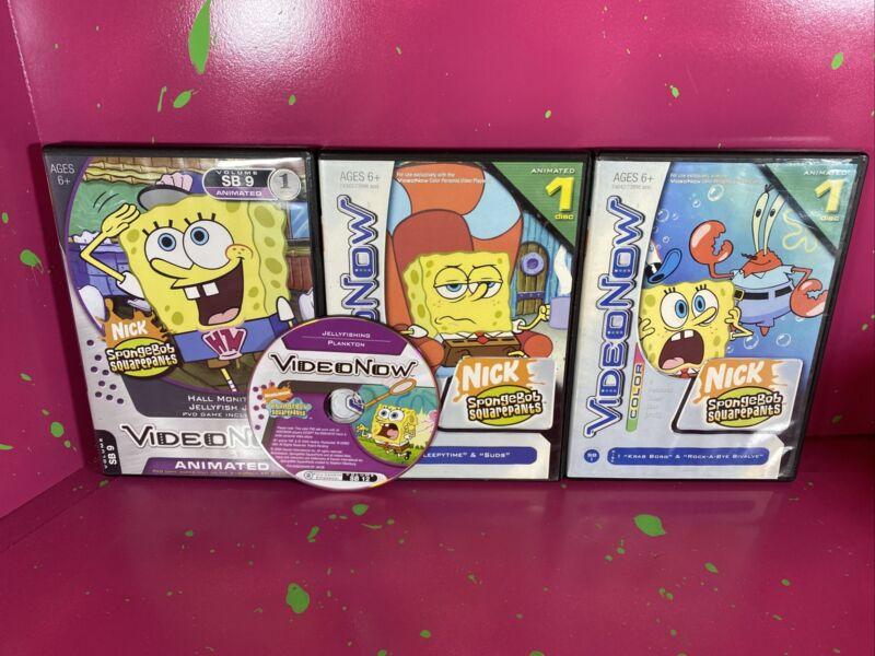 Video Now Spongebob Squarepants PVD Lot Of 4