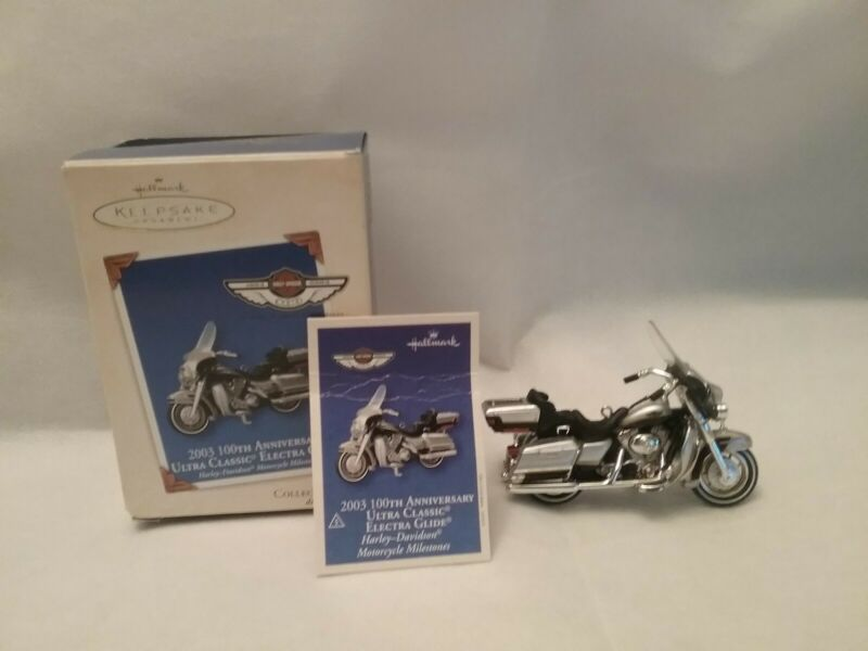 2003 HALLMARK KEEPSAKE 100TH ANNIVERSARY ULTRA CLASSIC ELECTRA GLIDE ORNAMENT