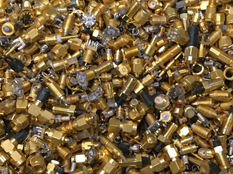 1 lb Connectors scrap Gold recovery computer RF electronics