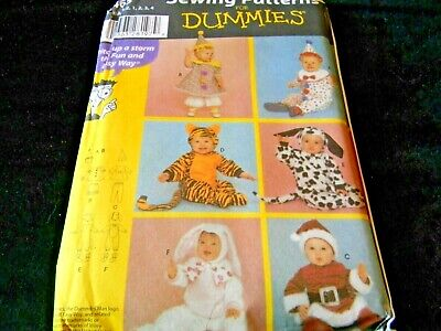 Simplicity Sewing Pattern For Dummies Toddler Costumes Bunny Santa Clowns 4465 - Clown Costumes For Toddlers