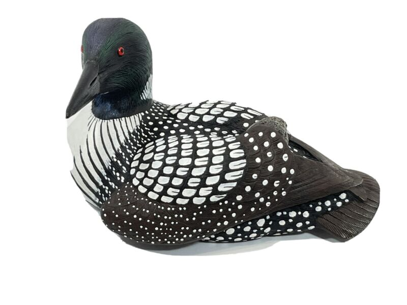 ~ Mother Loon by Roger Desjardins- Hand Painted- Wood Mini Decoy ~