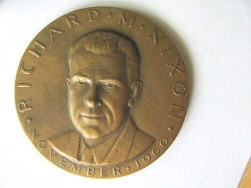 1960 US PRESIDENTAL ELECTION CAMPAIGNERS FOR R NIXON MEDALLIC ART MEDALLION