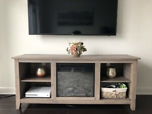 "Inglenook TV Stand for TVs up to 60"" with Fireplace"