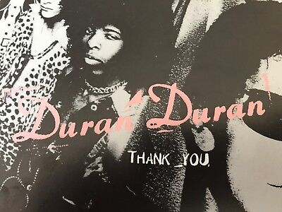 Duran Duran THANK YOU 12x12 USA PROMO FLAT Poster 2-sided rare EMI Records 1995