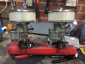 Twin Stromberg Carburettors and manifold Yarragon Baw Baw Area Preview
