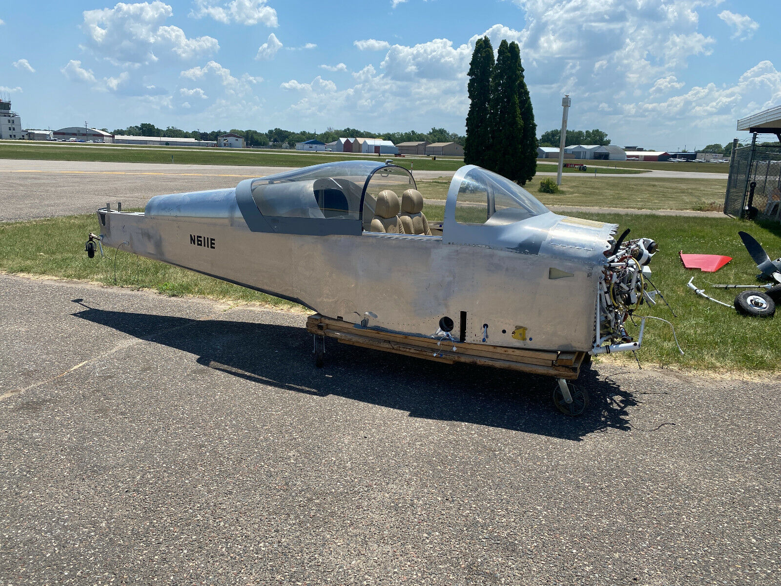 2021 VANS RV-7 AIRFRAME, 4 HOURS SINCE NEW, OFF FIELD LANDING WITH DAMAGE, CHEAP