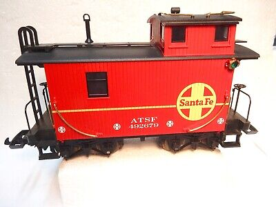 LGB G Scale Santa-Fe Caboose Two Axle Caboose with Metal Wheels-Very nice-Look!-