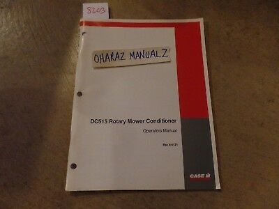 Case Dc515 Rotary Mower Conditioner Operations Manual 6-6121