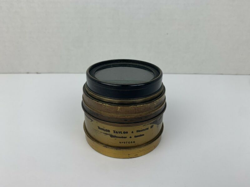 Vintage Brass Lens Taylor Taylor & Hobson Cooke Process Lens A.W. Penrose AS IS