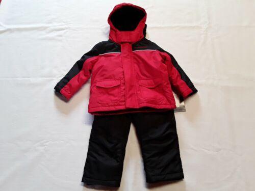 WEATHERPROOF Toddler Boy Winter Jacket Coat Snow Bib Pants Red/Black Sz-18mo NWT