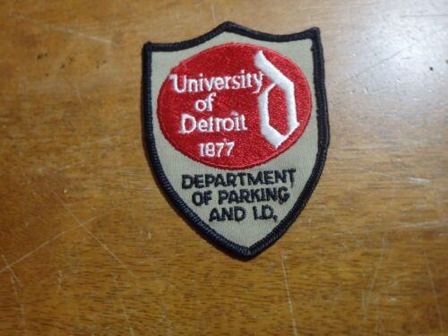 UNIVERSITY OF DETROIT  PARKING SECURITY OBSOLETE PATCH  BX K#21