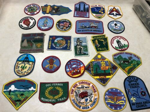 Lot of 25 Boy Scout Trail Patches